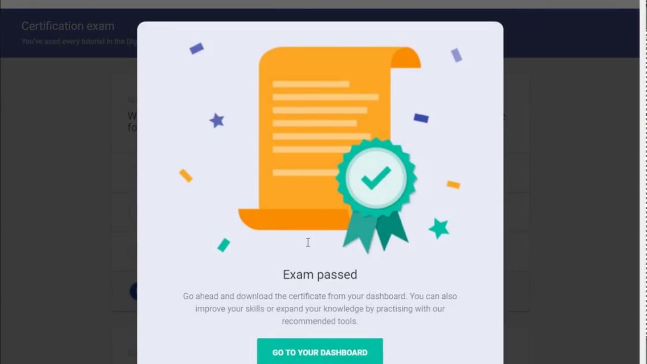 Google Digital Unlocked Certificate Live Exam Youtube