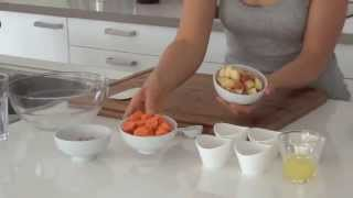 Quick & Low Fat Raw Vegan Lunch: Carrot Ginger Spread With Almond Pulp