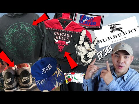 CHROME HEARTS! BULLS GRAIL! BURBERRY! Trip to the thrift EP.389
