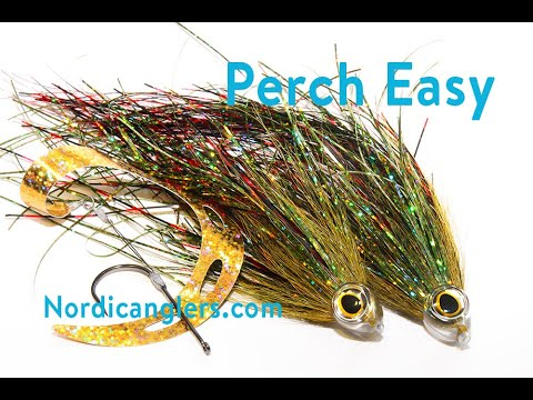 Pike Tube Fly Tying Lesson, Step By Step, How To Tie The: The Perch Easy