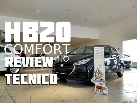Review Técnico - Hyundai HB20 Comfort 1.0 2018 Mp3