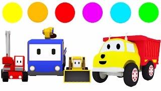 Aprendem as cores brincando com Ethan o caminhão de despejo e os Mini Caminhões | desenhos animados