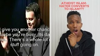 NON MUSLIM REACTS TO Atheist Islam-Hater converts to Islam! Funny yet AMAZING story!(with subtitles)