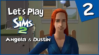 Let's Play The Sims 2: Angela and Dustin #2 - Angela Eats Her Feelings