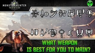 Monster Hunter World 🏹 What's The Best Weapon For You?
