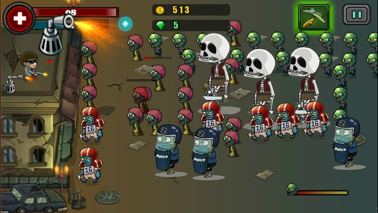 Best Zombie Shooting Game Like Plants Vs Zombies Zombie Tower