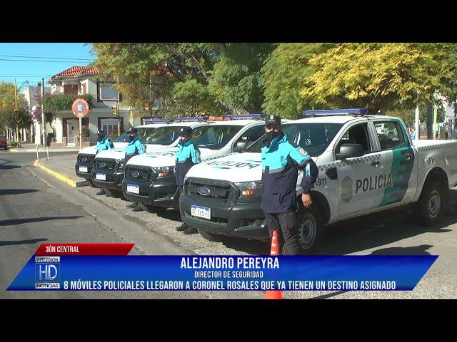 8 móviles 0km para la Policía llegaron a Coronel Rosales