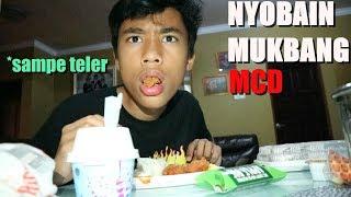 mukbang burger mcd