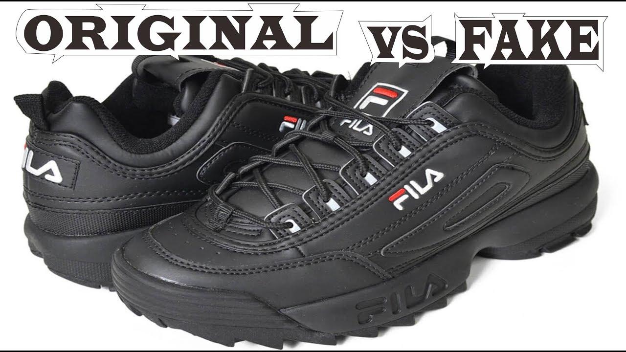 Fila Disruptor II Triple Black Original & Fake