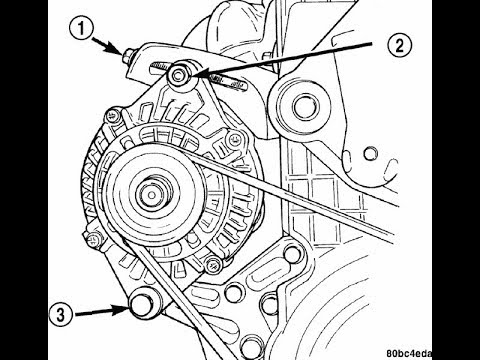 how to replace alternator belt on 2nd gen dodge neon / srt4
