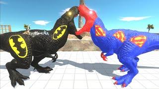 BATMAN T REX DEATH RUN  Animal Revolt Battle Simulator