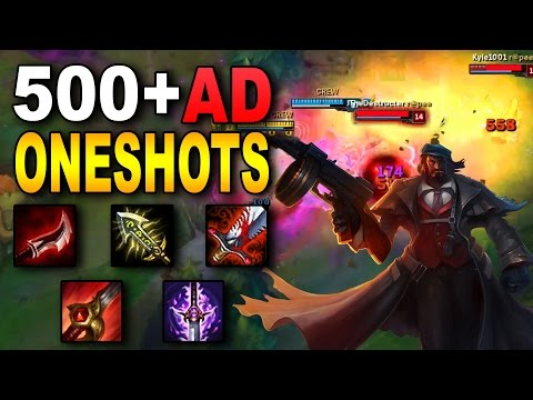 500+ FULL AD GRAVES JUNGLE | League of Legends