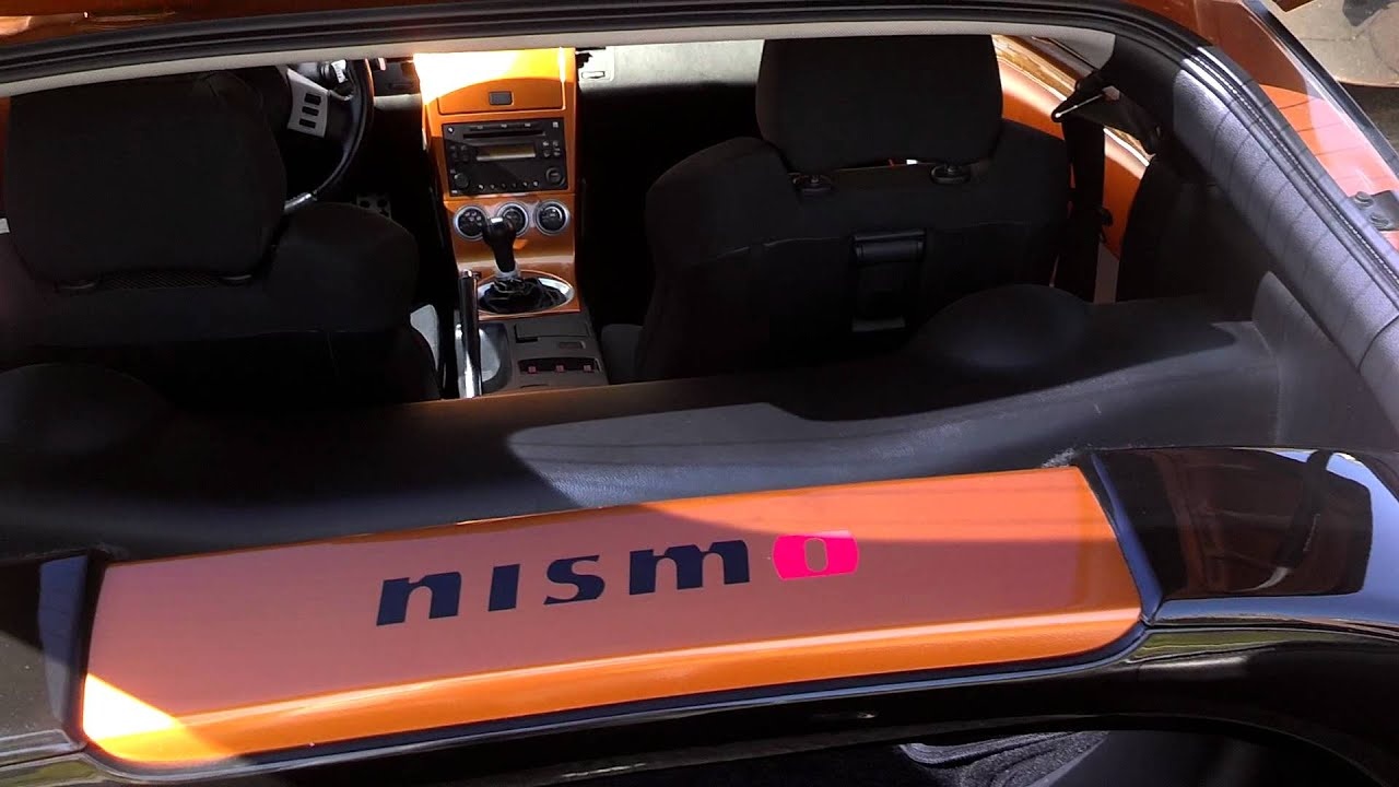 2005 350z sunset orange metallic custom interior door panels youtube for 350z interior replacement parts