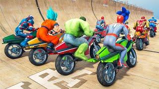 Superhero Bike Stunt GT Racing - Mega Ramp Games (clip 58) screenshot 2
