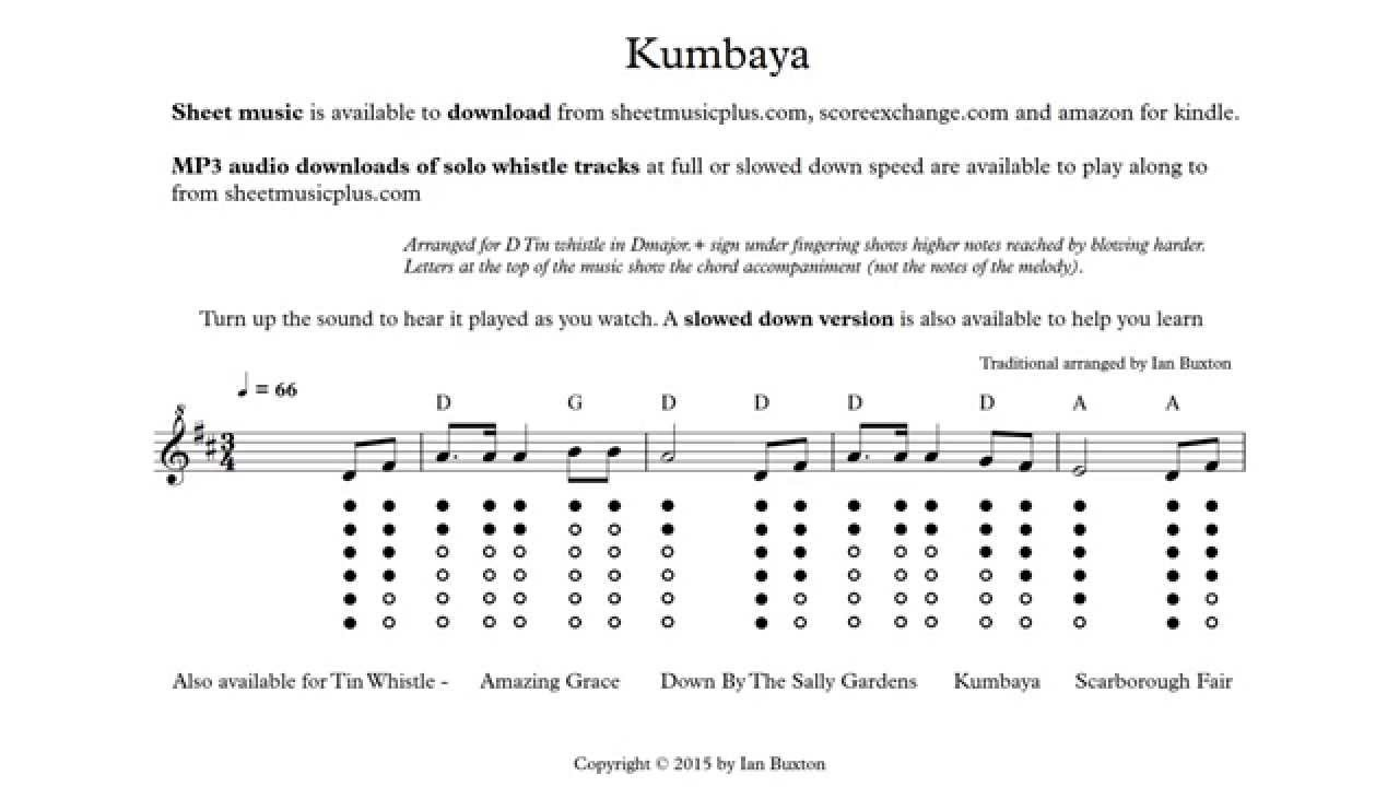 Learn how to play kumbaya on tin whistle with chords arranged by learn how to play kumbaya on tin whistle with chords arranged by ian buxton hexwebz Image collections