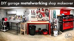 DIY Garage Metalworking Shop Makeover and Organization // Shop Project
