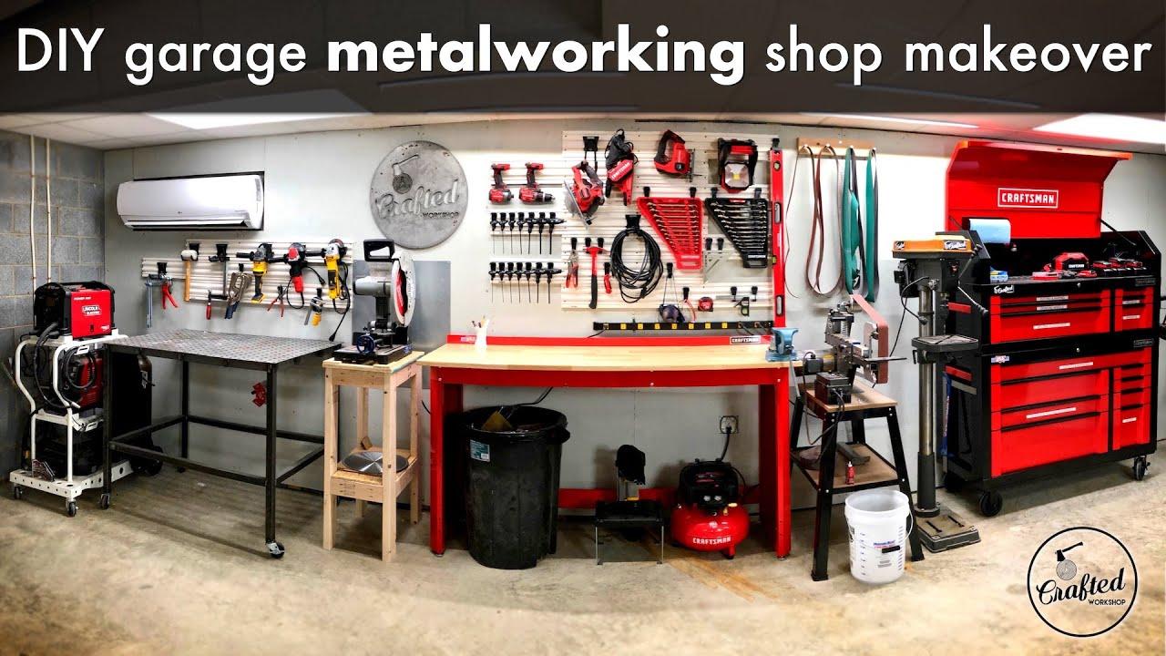Diy Garage Metalworking Shop Makeover And Organization