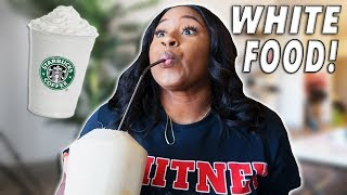 I ONLY ATE WHITE FOOD FOR 24 HOUR CHALLENGE