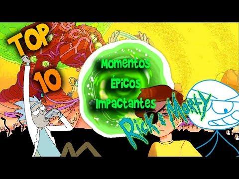 Top 10 Momentos Épicos e Impactantes de Rick y Morty (LPL: RONDA 3)