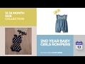 2nd Year Baby Girls Rompers 12-18 Month Size Collection