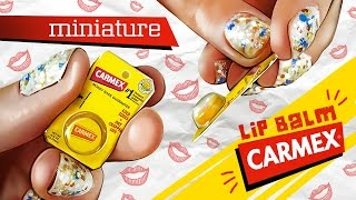 realistic miniature carmex lip balm tutorial   dollhouse diy