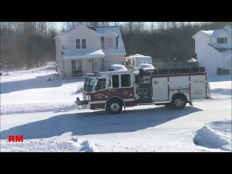 WVFC 27-E1 + CCVFC Chief 9 + Ambulance 8 Responding/Returning from a Structure Fire Standby