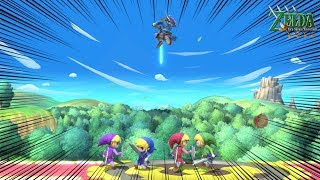 Super Smash Bros Ultimate World of Light - LEVELING UP ALL FOUR SWORD ADVENTURE TOON LINKS