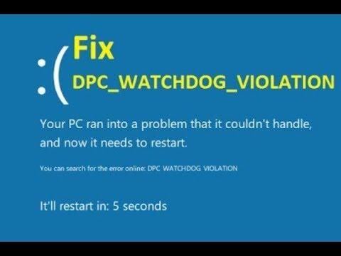 dpc watchdog violation windows 10 nvidia