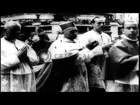 Cardinal Mindszenty in Hungary. In New York: American Legionnaires Parade. Commun...HD Stock Footage