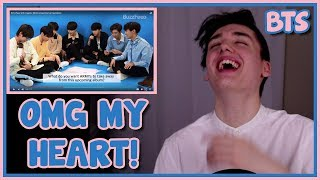 BTS PLAYS WITH PUPPIES / ANSWERS QUESTIONS REACTION [BUZZFEED INTERVIEW]