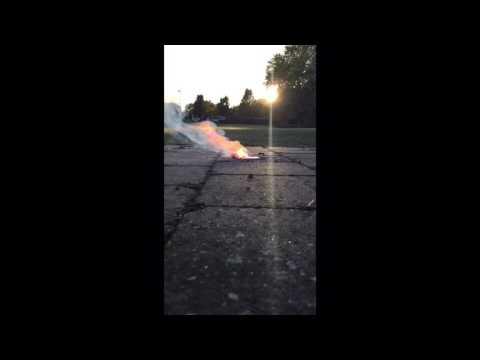 Combustion de la poudre noire!