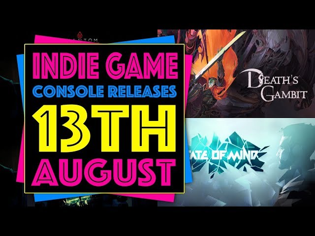 Indie Game Console Releases 13th August