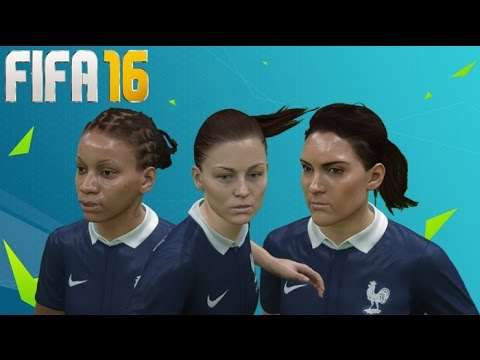 FIFA 16 France Women's National Team Player Faces w/ Ultra Graphics!