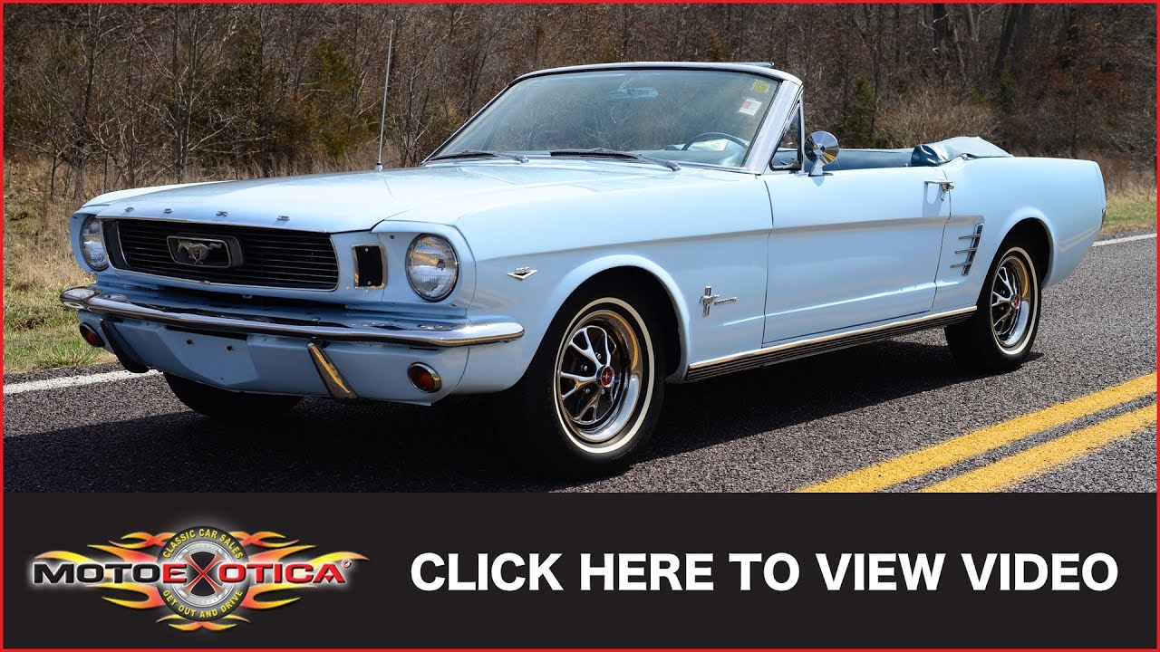1966 ford mustang convertible sold