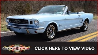 1966 Ford Mustang Convertible (SOLD)