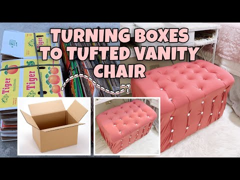 diy-//-tufted-vanity-chair-made-of-boxes-|-tipid-&-easy-tips