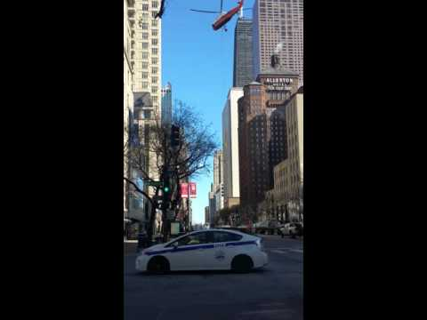 Chicago Magnificent mile helicopter