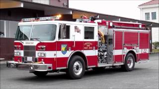 Fire units of Crescent City, California