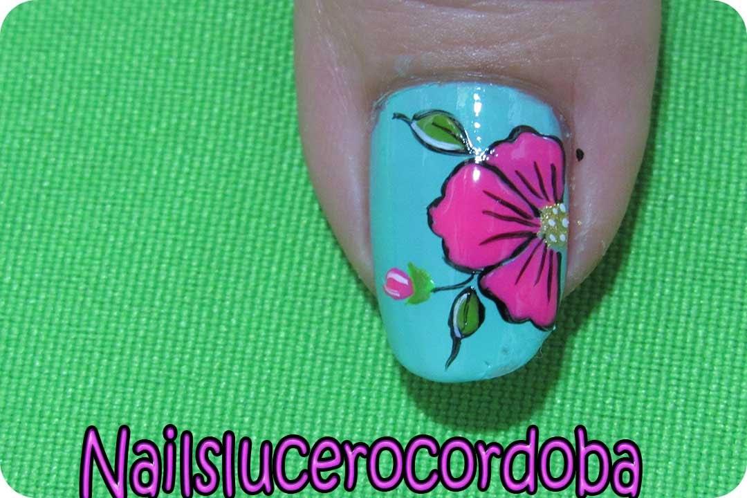 Como Hacer Flores En Las Uñas Como Pintar Flores Uñas Con Flores Nailslucerocordoba Youtube