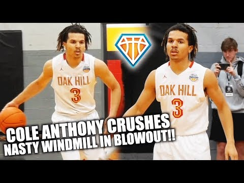 5-STAR Cole Anthony CRUSHES NASTY WINDMILL vs Believe Academy!! | Oak Hill Finishing Season STRONG