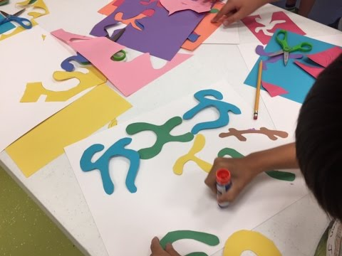 Art Lessons For Kids: Matisse Paper Cutouts