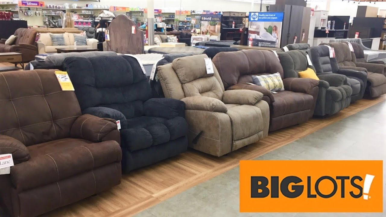 Big Lots Armchairs Chairs Recliners Home Furniture Shop With Me Shopping Store Walk Through Youtube