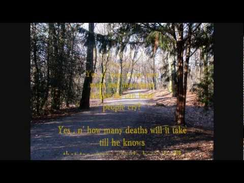 """Blowin' in the wind"" (How many roads...) - (Bob Dylan) - Akkordeon mit midi-Klängen"