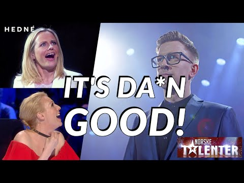 TIMETRAVELCARD MAGIC! HEDNÉ does an incredible performance! | Norway's Got Talent 2017 (SUBTITLED)
