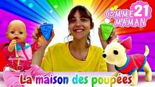Vidéo en français pour enfants. Comme maman № 21. Promenade de bébé born Emily