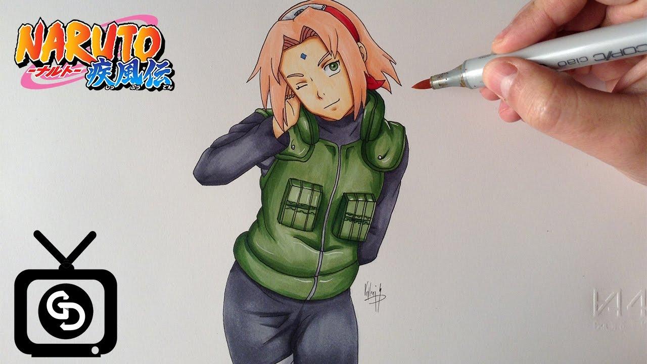 Drawing Sakura Haruno Naruto Shippuden Youtube
