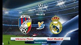 VIKTORIA PLZEN VS REAL MADRID | UEFA Champions League 2018 - UCL | PES 2018 HD