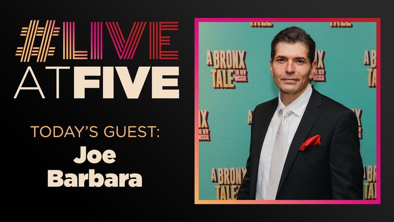Broadway.com #LiveatFive with Joe Barbara of A BRONX TALE's National Tour