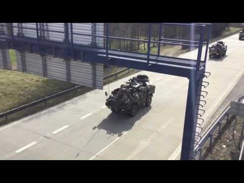 Multinational Battalion Crosses Germany Border To Assist NATO Troops in Poland