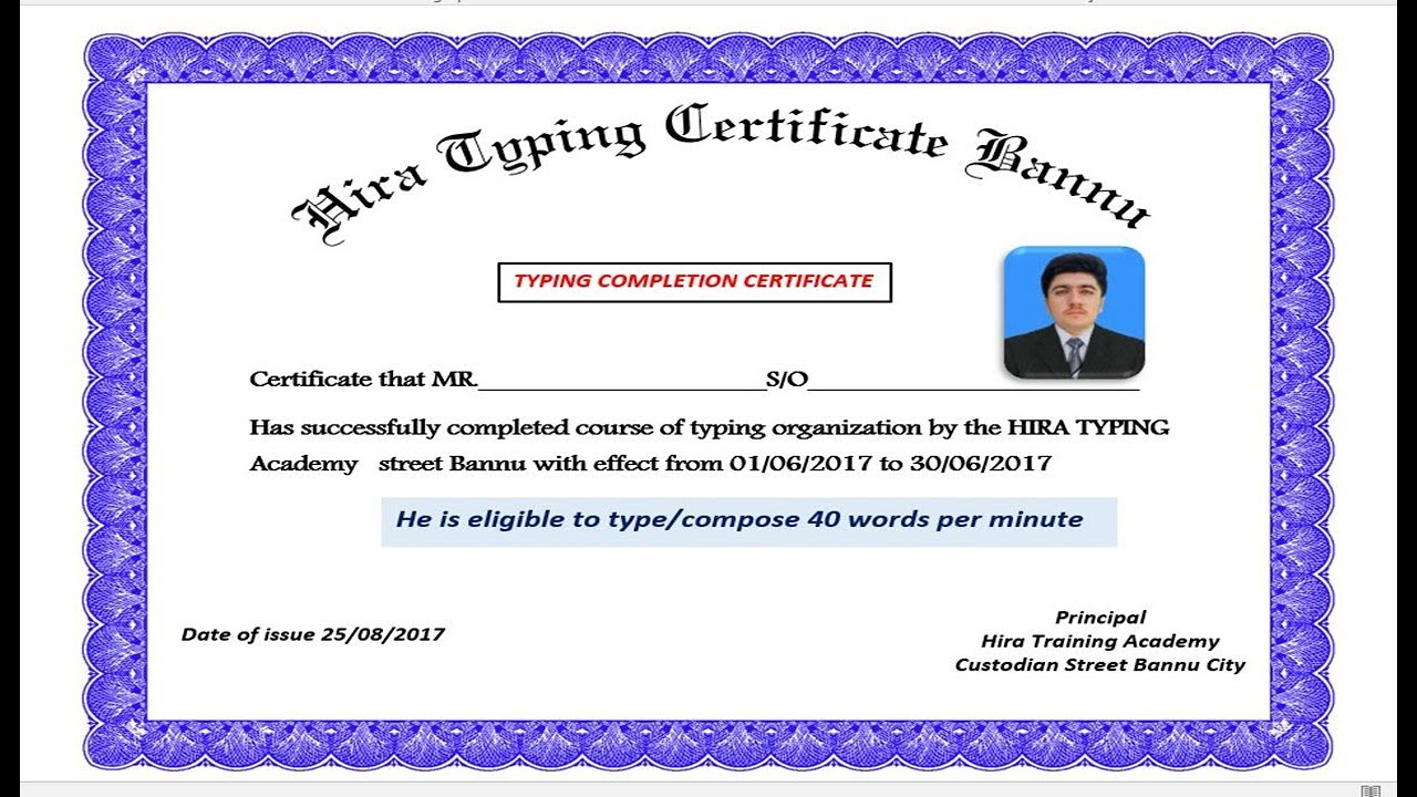 how to make a certificate in word 2016
